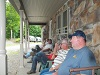 2015 Mens Retreat - Sitting on the Porch