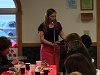 Mother/Daughter Banquet: Event Coordinator Stacey Hostetler explains the theme POPPIES: Flowers of Life.