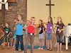 2016 VBS: Singing - Rock the Boat. .Rock, rock the BIG boat!